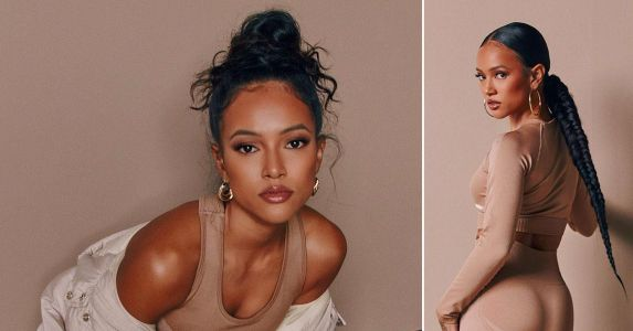 Model Karrueche Tran Flaunts Fit & Flawless Physique In Hip-Hugging Athleisure - See Photos