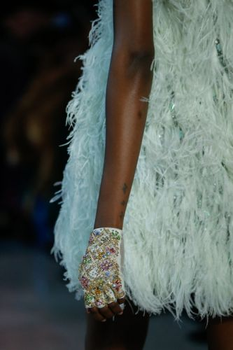 A closer look at the details of the GEORGES HOBEIKA Haute
