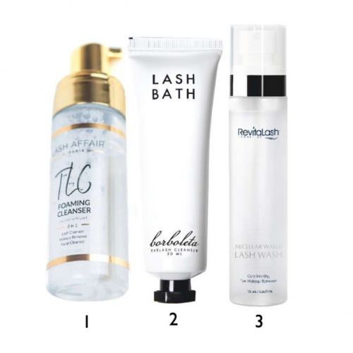 Safe Cleaners and Makeup Removers for New Eyelash Extensions