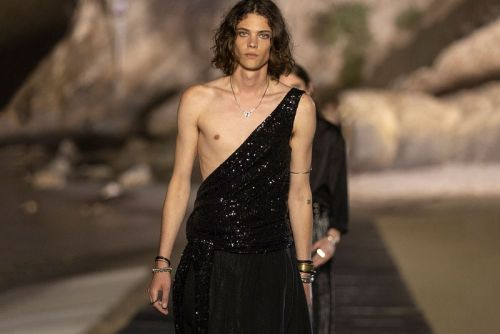 Saint Laurent Delivers Billowing, Genderless Styling for SS20