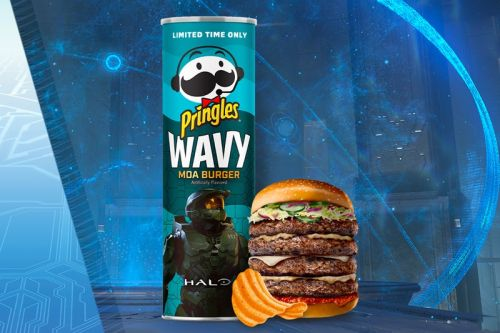 "'Halo' Joins Pringles for ""Moa Burger""-Flavored Chips"