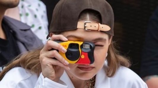 Ms Hadid goes full VSCO girl with Gi'sposables IG account