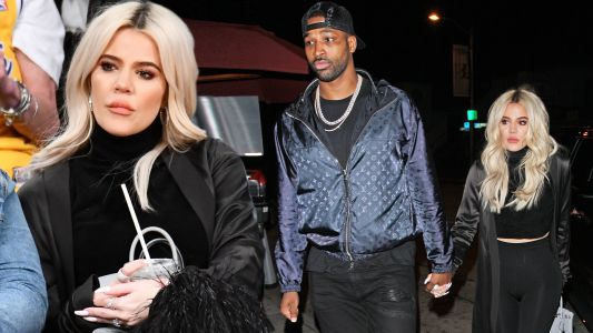 Khloé Kardashian And Tristan Thompson Enjoy A Romantic Dinner Before She Sits Courtside At LA Game