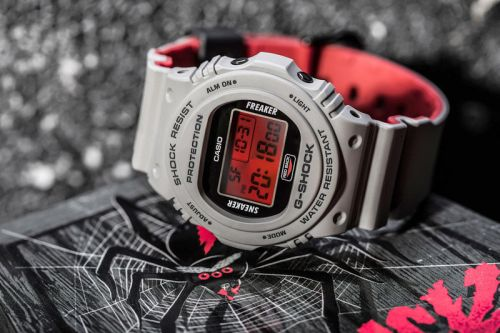 "Sneaker Freaker and G-SHOCK Debut the ""Redback"" Collaboration for Halloween"