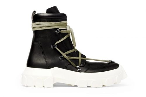 "Rick Owens ""DIRT"" Leather Hiking Boot Is Now up for Grabs"