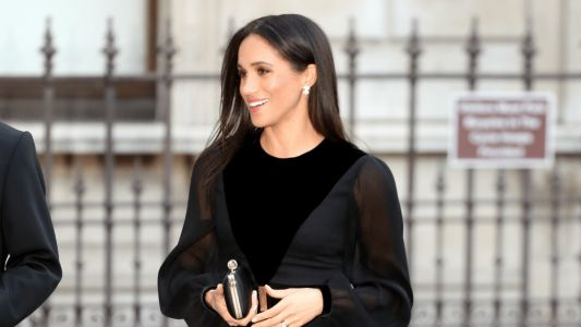 Meghan Markle Wore a Thing: Black Long-Sleeve Givenchy Dress Edition