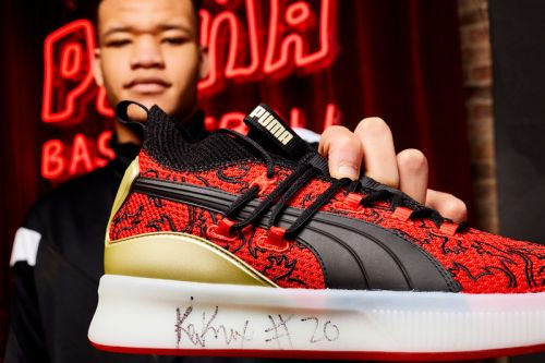 """NY Knick Kevin Knox Unveils PUMA's Clyde Court """"London Calling"""""""