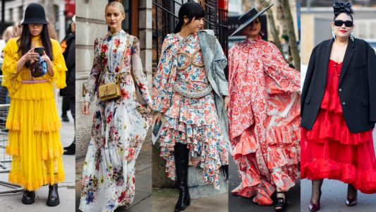 Florals and Ruffles Ruled the Streets on Day 4 of London Fashion Week