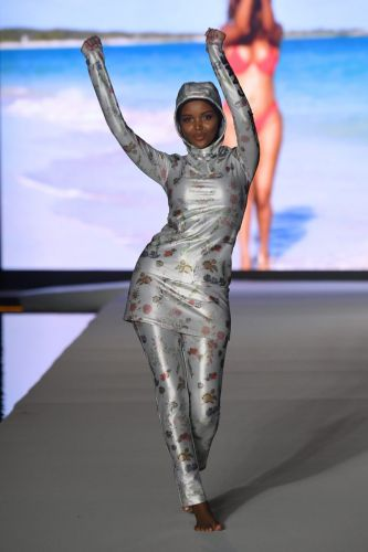 Cynthia Rowley Made Halima Aden A Custom Burkini