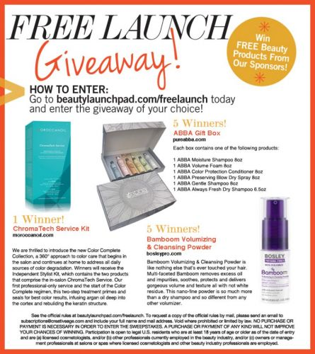 FREE LAUNCH Giveaway: July 2018