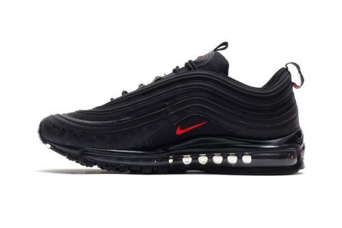 "Nike Highlights Subtle Branding on This New Air Max 97 ""Black/University Red"" Model"