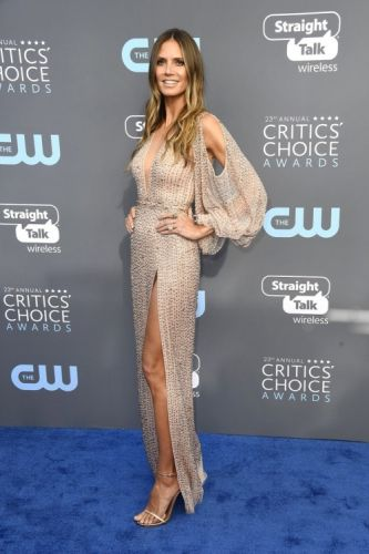 Heidi Klum was ravishing in GEORGES HOBEIKA for the 2018