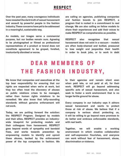 NY's Model Alliance outlines a new programme to stop abuse in fashion