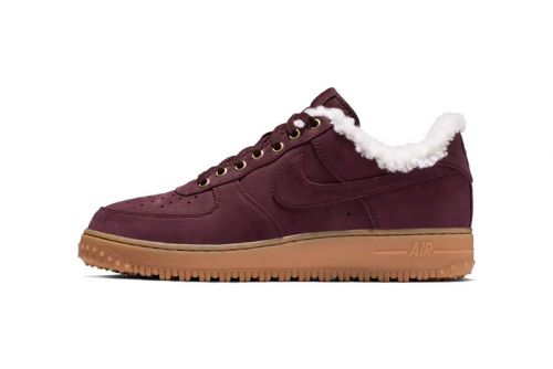 "Nike Air Force 1 Premium Winter ""Burgundy"" Gears Up for the Next Storm"