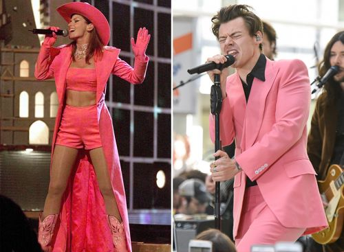 All the Times Harry Styles Copied Shania Twain's Best Looks