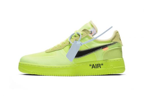 """A Clean Look at the Off-White™ x Nike Air Force 1 """"Volt"""""""