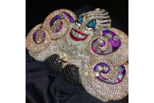 Sheck Wes Shows off His Iced-Out Ursula Chain