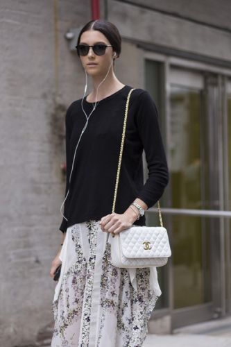Give your staple black jumper a summer refresh and pair it with