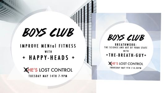 She's Lost Control launch The Boys Club in support of male mental health
