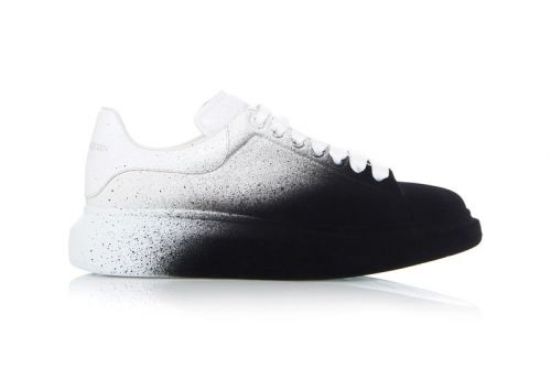 """Alexander McQueen Spray Paints Its """"Larry"""" Sneakers Black and White"""