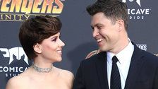 Scarlett Johansson And Colin Jost Make Their Red Carpet Debut As A Couple