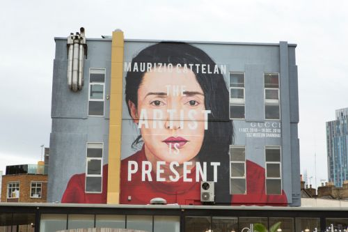"Gucci Honors Marina Abramović's ""The Artist is Present"" With Gargantuan ArtWalls"