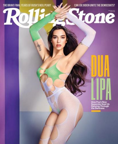 Dua Lipa Wore Pastel Fishnets On The Cover Of 'Rolling Stone'