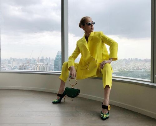 Céline Dion 'gets arrested' to promote new fashion label
