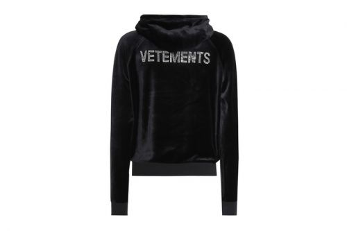 Vetements & Juicy Couture's Velour Hoodie Is Dripping in Rhinestones