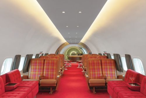 TWA Hotel Turns Vintage Airplane Into Retro Cocktail Bar