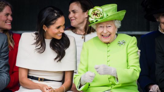 The Queen Wouldn't Let Meghan Markle Wear Her Favorite Wedding Tiara & Prince Harry Flipped Out