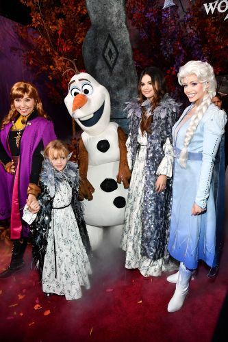 Selena Gomez and Her Little Sister Gracie Rock Matching Outfits at the 'Frozen 2' Premiere and It's Everything