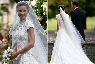 Pippa Middleton stuns in custom-made wedding gown
