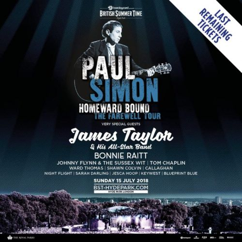 WIN TICKETS TO PAUL SIMON AT BRITISH SUMMER TIME, HYDE PARK