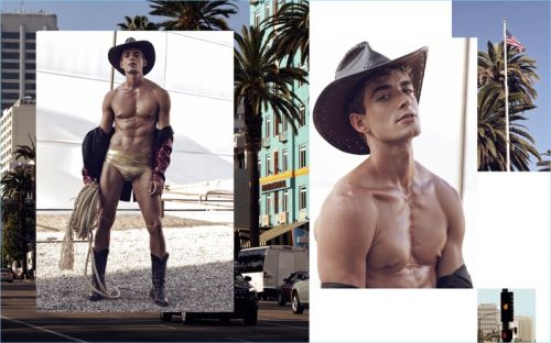 Eric Fraga Channels His Inner Pinup for New Shoot