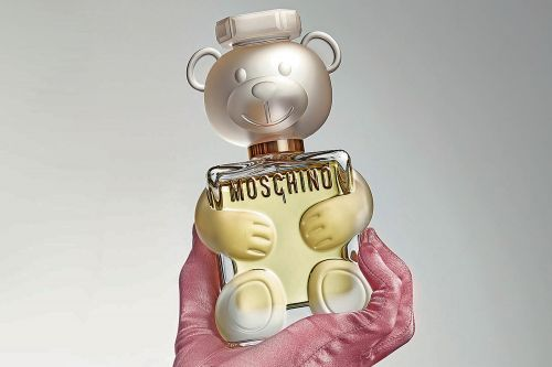 Moschino's new fragrance was inspired by Jeremy Scott's childhood teddy bear