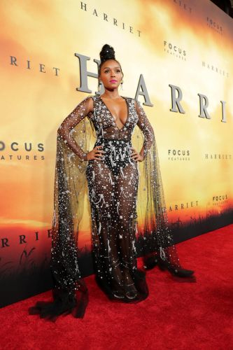 Janelle Monae's Sparkly See-Through Dress Has Me Feeling Some Type of Way