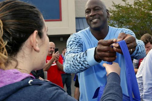 Michael Jordan Hands out Free Sneakers & Thanksgiving Dinners to Hurricane Victims
