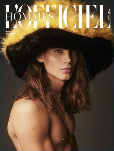 Vito Basso Covers Debut Issue of L'Officiel Hommes Poland