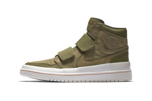The New Air Jordan 1 High Double Strap Mixes Olive and Orange