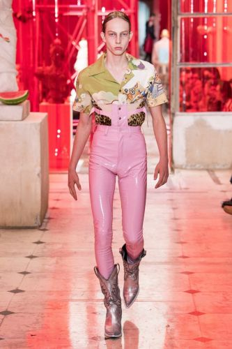 Margiela's fetishistic SS19 collection blurred the line between genders
