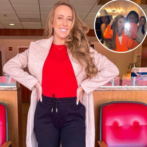 Hot Mama! Brittany Matthews Rocks Sexy Orange Blazer During a Night Out Postpartum