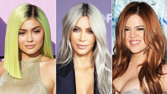 A Rainbow of Kardashians And Jenners: All The Times The Girls Rocked Different Hair Colors