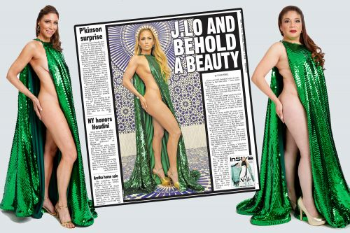 Real women try out J.Lo's racy naked cape