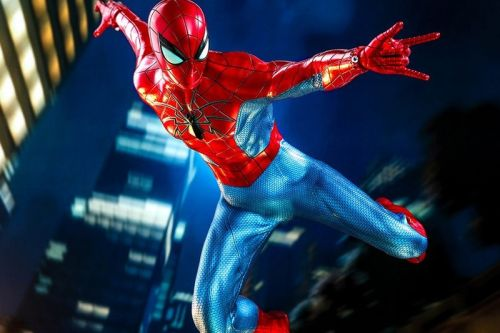 "Hot Toys Debuts Spider-Man ""Spider Armor MK IV Suit"" Figure"