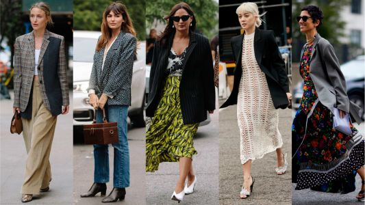 Showgoers Wore Blazers as Jackets on Day 3 of New York Fashion Week