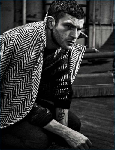Arnaud Valois Sports Saint Laurent for L'Uomo Vogue