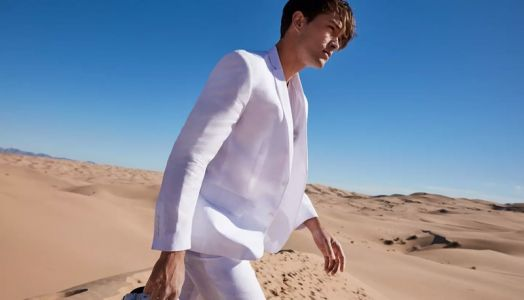 Blanc State: Francisco Lachowski & Hamid Onifade Sport White Summer Style for Macy's