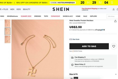 Shein slammed for selling swastika necklace, claims it's not Nazi symbol