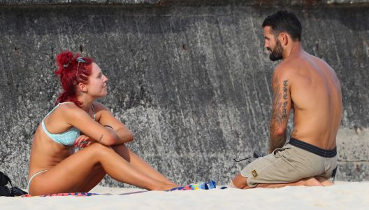 Bikini-Clad 'DWTS' Pro Sharna Burgess Gets Cozy With Hunky Mystery Man During Aussie Beach Day